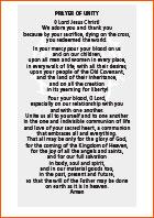 Einheitsgebet englisch
